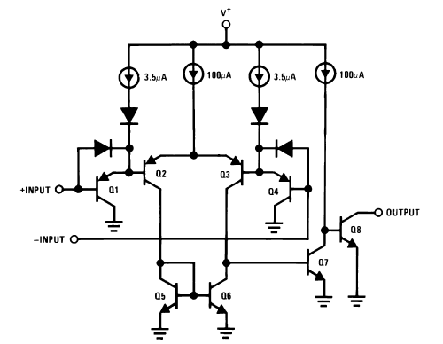 LM139 Comparators Schematic Diagram and Datasheet