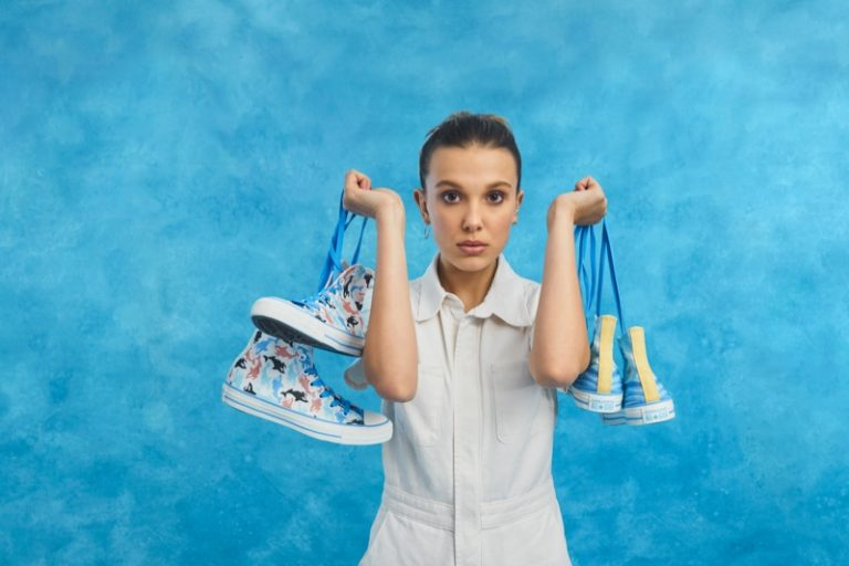 Millie Bobby Brown wears upcoming Converse sneaker collaboration