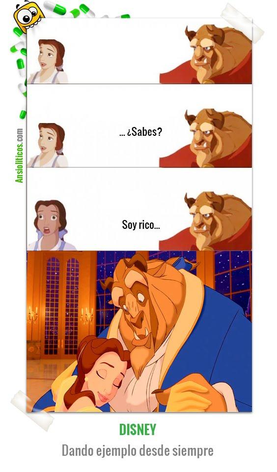 Chiste de Disney: La Bella y la Bestia Dando Ejemplo