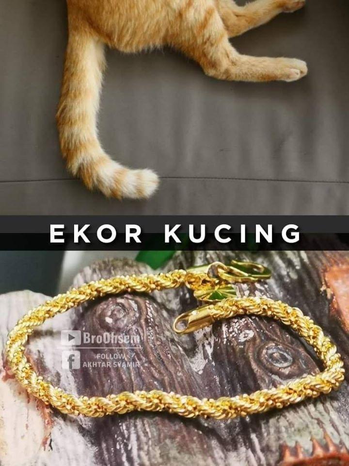 Gelang Emas Ekor Kucing