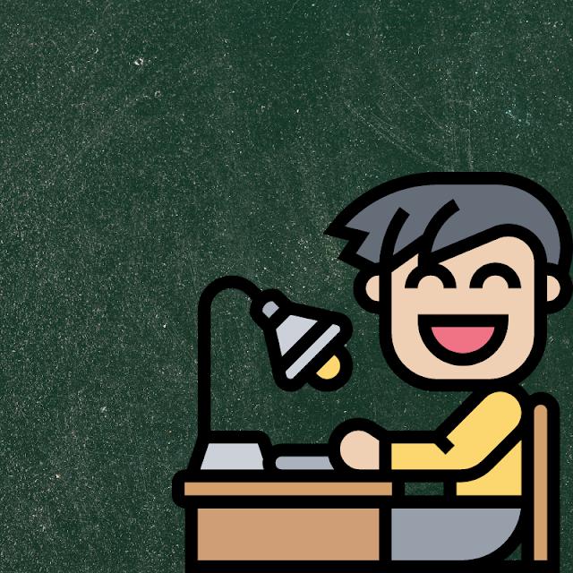 Gambar Kartun Anak Belajar di Rumah (7)