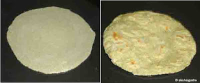 roll to round roti and cook