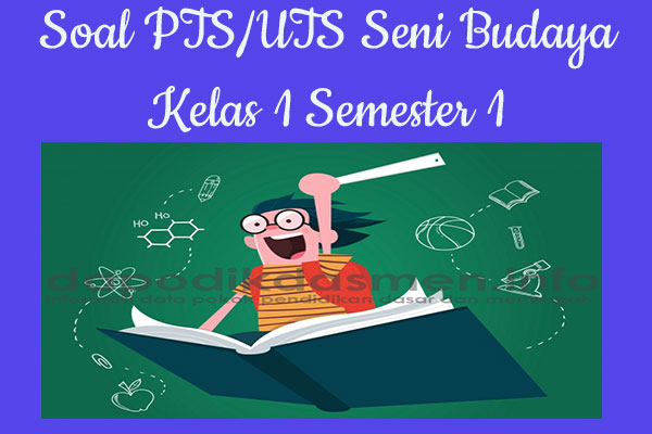 Soal PTS UTS Seni Budaya Kelas 1 Semester 1 SD MI Tahun 2019-2020