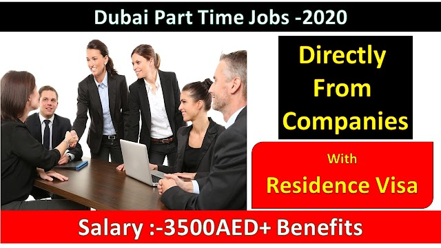 Part Time Jobs in Dubai UAE for Male Female Freshers Vacancies
