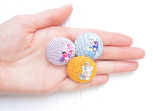 New Button Brooches