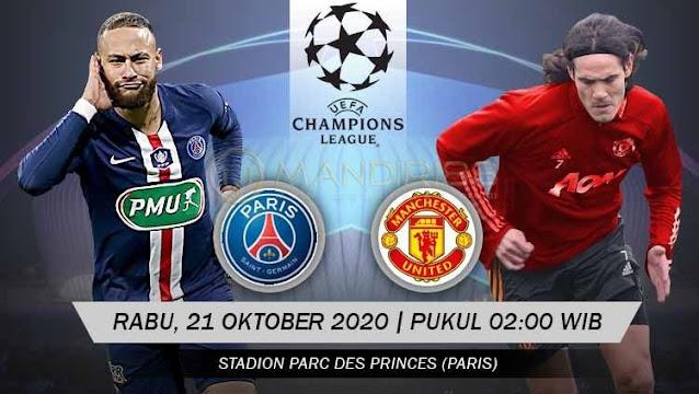Prediksi Paris Saint Germain Vs Manchester United, Rabu 21 Oktober 2020 Pukul 02.00 WIB @ SCTV