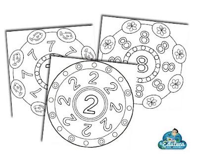 Recursos Infantil Mandalas De Números La Eduteca