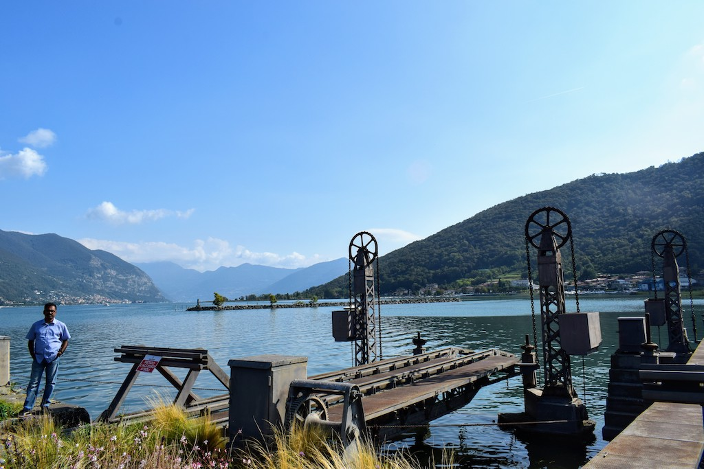 Iconic track for the Historic Train near lake Iseo