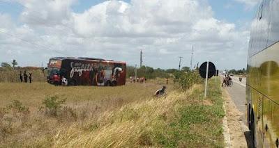 'Banda Grafith' se envolve em acidente na BR-304 nesse domingo (22)