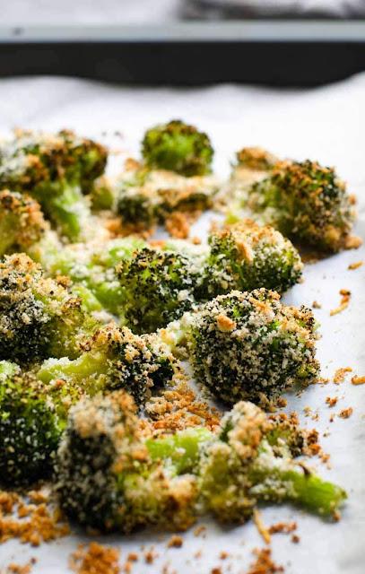 Garlic roasted broccoli photo