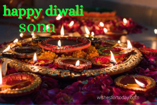 Happy Diwali Sona Images