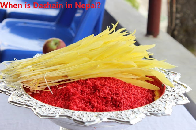 When is Dashain in Nepal?