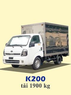 xe tải kia thaco k200 tải trọng 1,9 tấn