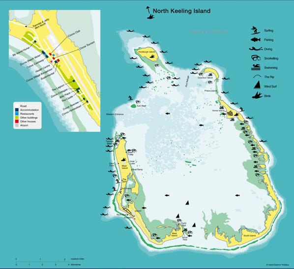 Mapas das Ilhas Cocos (Keeling) | Austrália