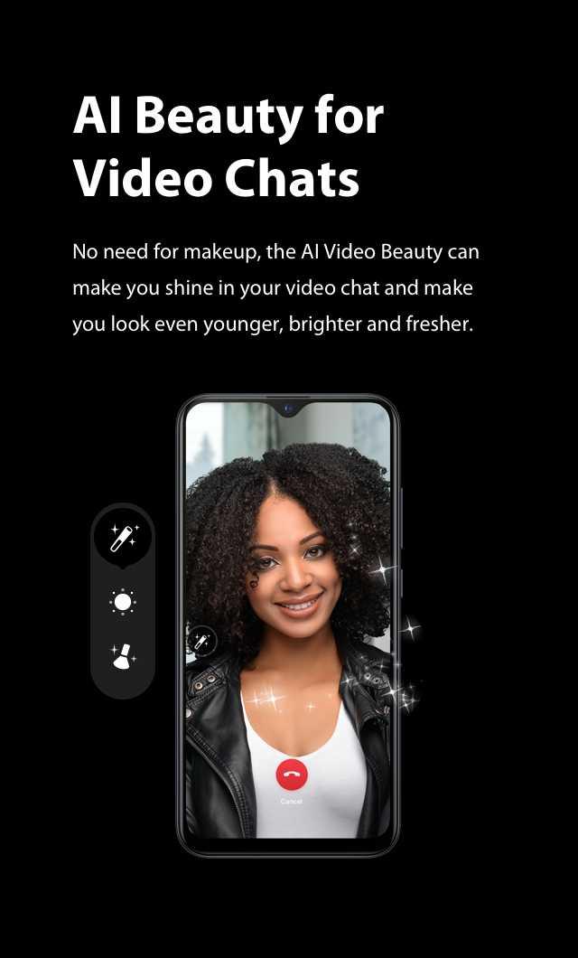 XOS 5.0 Cheetah AI Beauty for video chats