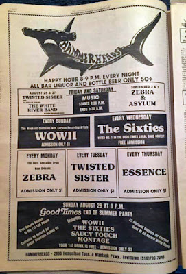 Hammerheads rock club ad from Good Times magizine