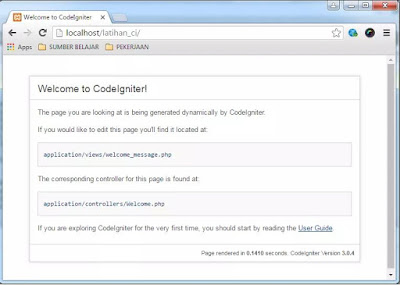 Cara mudah Instalasi dan konfigurasi codeigniter