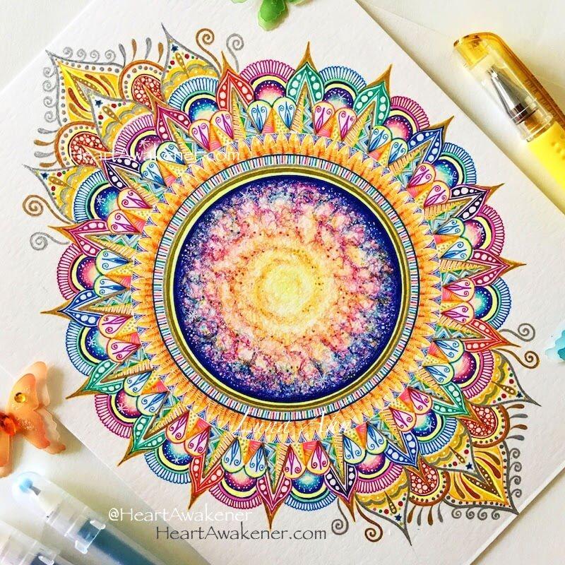 Om Mandala by Luna Ahn