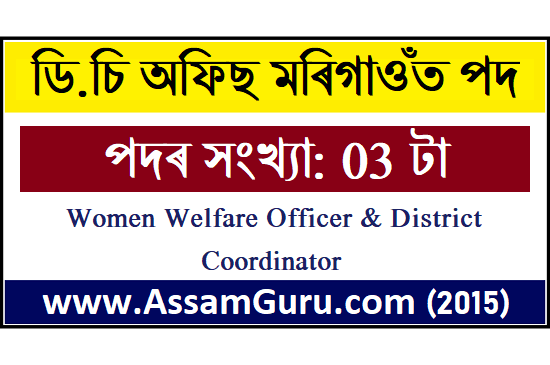 DC Office Morigaon job 2020