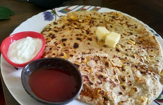 बटाटा चीज़ कॉर्न पराठा | potato cheese corn paratha in marathi