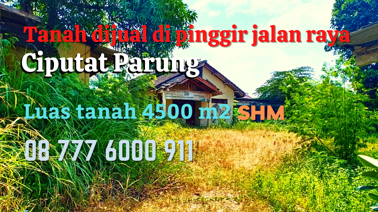 Jual Tanah Kosong di Parung Bogor NJOP Tanah di Bojongsari Depok 7 Juta per meter