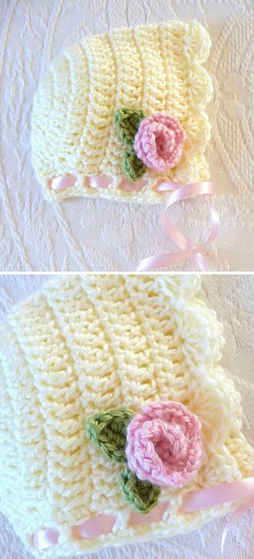 Scalloped Bonnet - Free Pattern