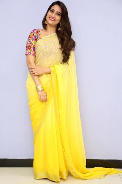 South Indian TV Actress Manjusha Stills In Traditional Yellow Saree Actress Trend