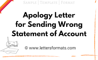 apology email for sending wrong statement