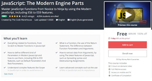 [100% Off] JavaScript: The Modern Engine Parts| Worth 99,99$