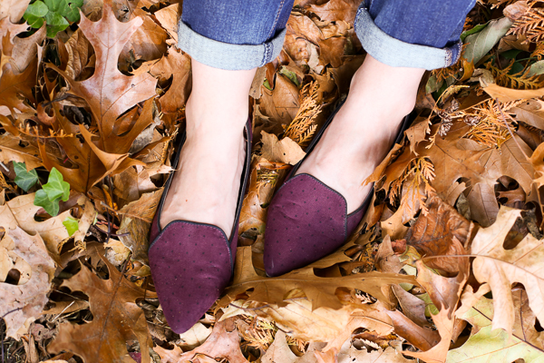 Old Navy Flats, Burgundy Flats, How to Wear Burgundy Flats in the Fall, How to Dress Down Burgundy Flats, Affordable Burgundy Flats for Fall