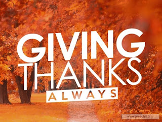 Giving Thanks Always - ODB Devotional 26 November 2020