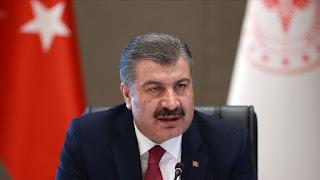 حصيلة جديدة للإصابات والوفيات بكورونا يعلن عنها وزير الصحة التركي