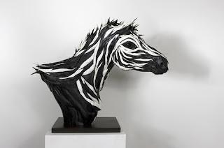 zebra de pneu reciclado
