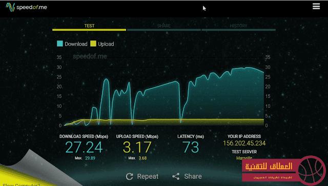 موقع قياس سرعة النت بدقة عالية للكمبيوتر