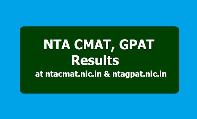 NTA CMAT, GPAT Results