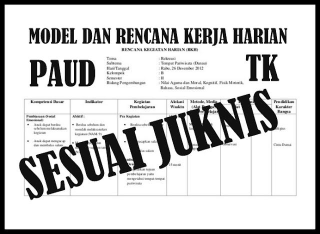 Download Model Dan Contoh RKH PAUD & TK Terbaru Sesuai JUKNIS