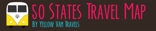 Banner image of 50 States Travel Map by Yellow Van Travels