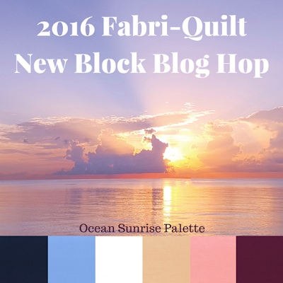 2016 Fabri-Quilt New Block Blog Hop at Thistle Thicket Studio. www.thistlethicketstudio.com