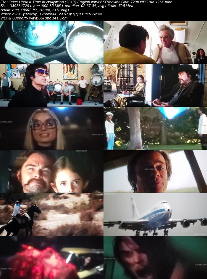 Once Upon a Time in Hollywood (2019) English 480p HDCAM x264 500MB Movie Download