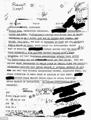 FBI paper about Roswell Crash