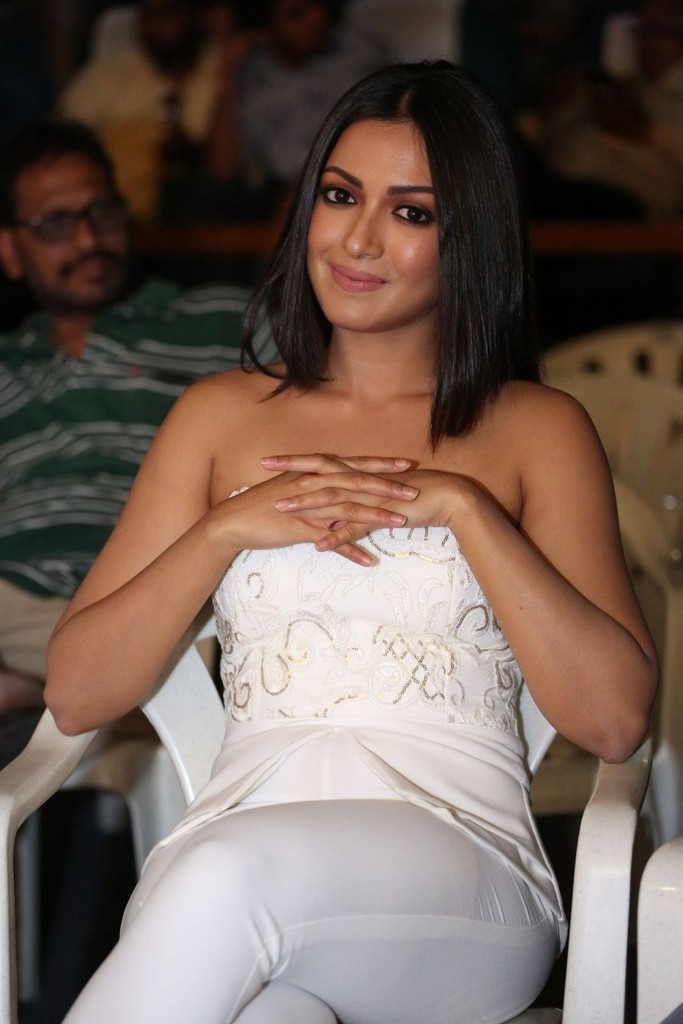 Tamil Girl Catherine Tresa Long Hair Stills In Long White Top