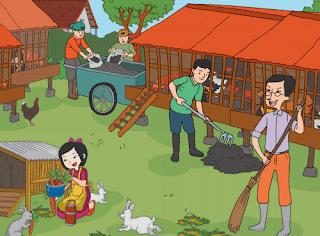 Lani rajin merawat ayam dan kelincinya www.simplenews.me