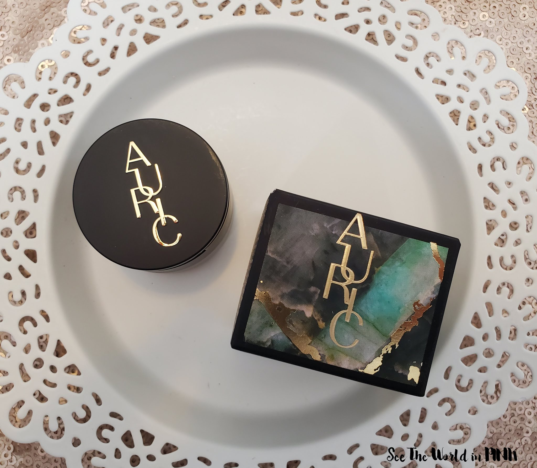 Auric Cosmetics by Samantha Ravndahl - Glow Lust in Selenite and Smoke Reflect in Temper Review and Swatches