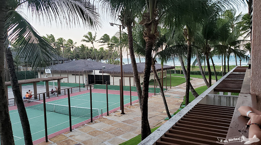 Vista da varanda do nosso quarto no Beach Park Suites Resort