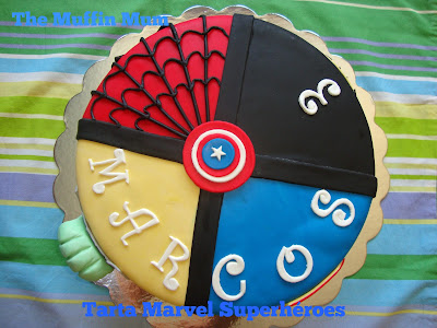 Tarta Marvel Superhéroes
