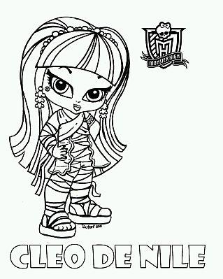Monster High, Dibujos de Cleo de Nile para Pintar - IMÁGENES PARA ...