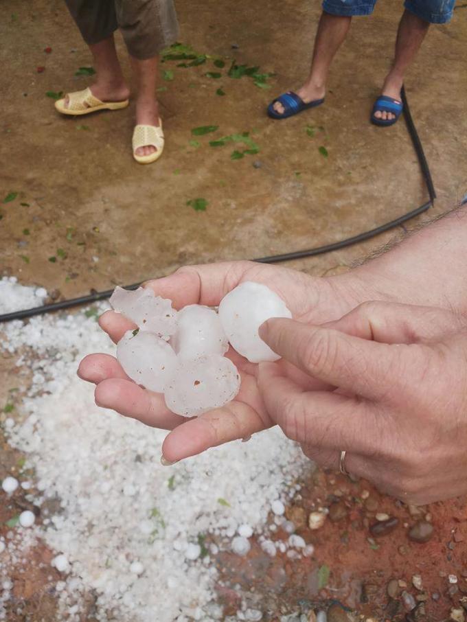 Mưa đá to như quả trứng tàn phá hàng trăm nhà dân ở Nghệ An