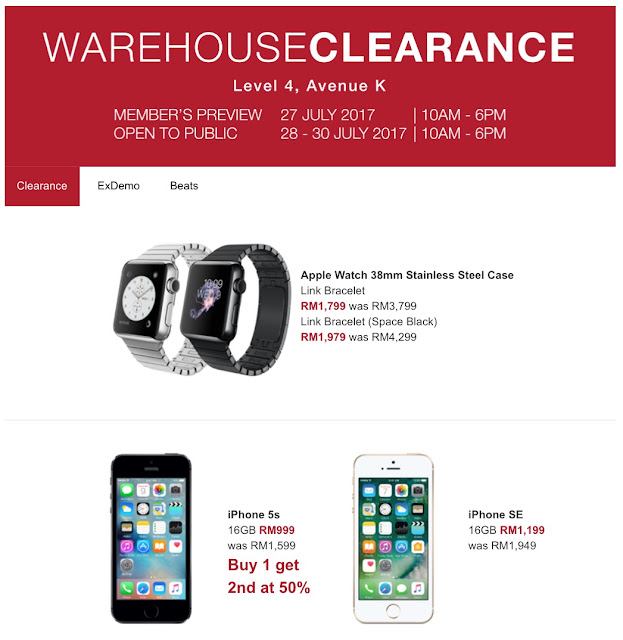 Machines Warehouse Clearance Sale July 2017 Price List