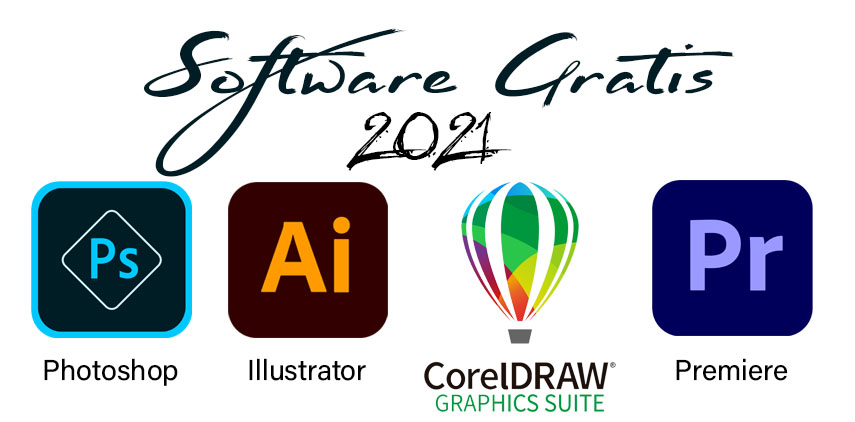 Photoshop, CoreDraw, Adobe Premiere, Illustrator