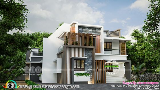 Modern contemporary style house architecture